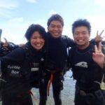 沖縄ダイビング☆8/7 珊瑚礁体験ダイビング 15時~ しおん・ローラ