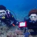 沖縄ダイビング☆9/2 青の洞窟体験ダイビング 15:30~ しおん・ローラ