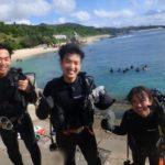 沖縄ダイビング☆10/29 珊瑚礁体験ダイビング 13:00~ しおん・ローラ・やす