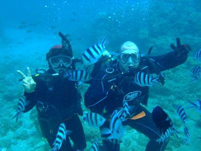 沖縄ダイビング 1/19 砂辺体験ダイビング たく&えりな