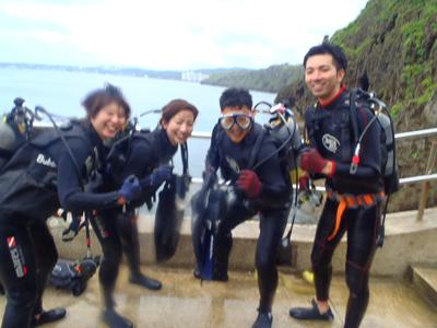 沖縄ダイビング★4/29 青の洞窟体験ダイビング 15時 しおん・ゆうき