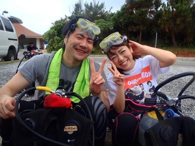 沖縄ダイビング☆4/29 青の洞窟体験ダイビング 15時 とも
