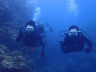 沖縄ダイビング☆6/29 サンゴ体験ダイビング 13時 りょうけん・えりな
