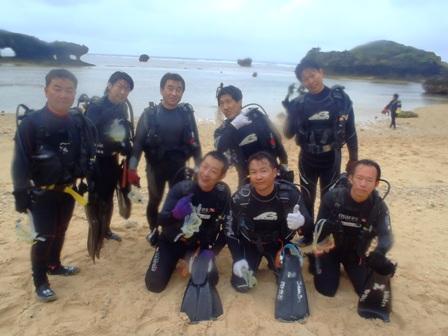 沖縄ダイビング☆4/22 珊瑚礁体験ダイビング 9:00 えりな ゆうき しおん